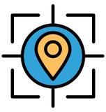 Furmani kartografia Odizolowywającą Wektorową ikonę lub editography Odizolowywającą Wektorową ikonę która może łatwo redagować lu royalty ilustracja