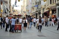 Furmani z jedzeniem na ulicie Istanbuł obraz royalty free
