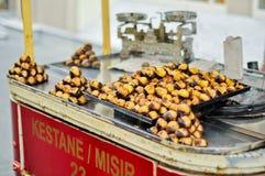 Furmani z jedzeniem na ulicie Istanbuł fotografia royalty free