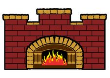 Furnace. Vector illustration of a wood fired furnace royalty free illustration