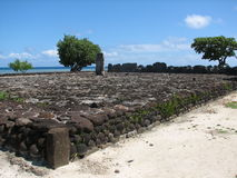 Furnace bridge in Raiatea Stock Photos