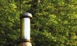 Steel Chimney Stock Photo