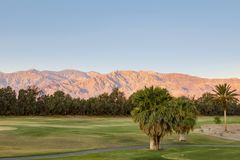 Furnace Creek Golf Course, Death Valley stock images