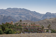 Furnace Creek Inn. Landscape view of the Furnace Creek Inn, located in Death Valley, California royalty free stock photography