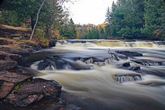 Furnace Falls In Autumn stock photography