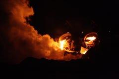Furnace in full work Stock Image