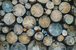 Furnace heating. Supply of firewood for the winter Royalty Free Stock Photography