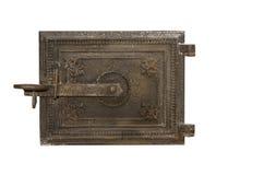 Furnace metal door. Metal door isolated on white background.  royalty free stock image