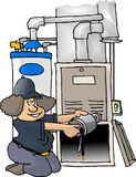 Furnace Repair Stock Image