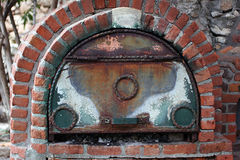 Furnace. Small brick oven and lid Royalty Free Stock Photo