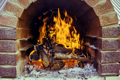 Furnace. Summer holiday. Fire in the oven before cooking meat Royalty Free Stock Photos