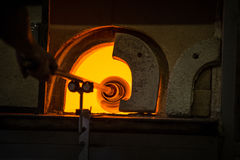 Furnaces in the glass factory Stock Photography
