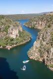 从Furnas峡谷- Capitolio -米纳斯吉拉斯州上面的看法  库存照片
