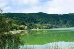 Furnas Azores landskap Fotografering för Bildbyråer