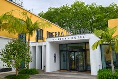 Terra Nostra Garden Hotel in Furnas town, Sao Miguel island, Azores Royalty Free Stock Images