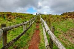 Furnas De Enxofre ślad, Terceira, Azores, Portugalia Zdjęcie Royalty Free