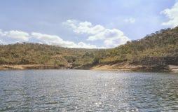 Furnas fördämning i Minas Gerais, Brasilien arkivbilder