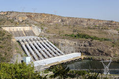 Furnas hydroelektrisk anläggning fotografering för bildbyråer
