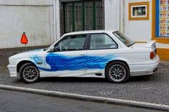 Furnas, Portugal - 9 de mayo: Coche retro el 9 de mayo de 2014 en Furnas Imágenes de archivo libres de regalías