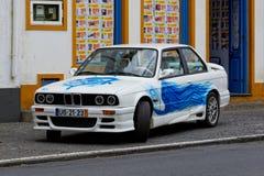 Furnas, Portugal - 9. Mai: Retro- Auto am 9. Mai 2014 in Furnas stockfotografie