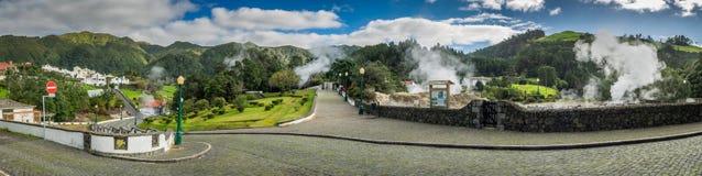 Furnas town panorama Royalty Free Stock Image