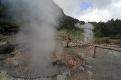 Furnas vulkaniska termiska vårar fotografering för bildbyråer