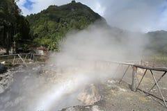 Furnas vulkaniska termiska vårar royaltyfria bilder