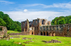 Furness Abbey in Barrow-in-Furness, England. Furness Abbey, or St. Mary of Furness is a former monastery located in the northern outskirts of Barrow-in-Furness Stock Photo