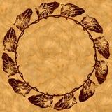 Furnier-Blattblumenkranz Stockbilder