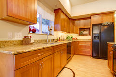 Furnished bright kitchen room Royalty Free Stock Image
