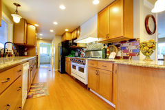 Furnished bright kitchen room Stock Image
