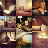 Furnished interiors collage Royalty Free Stock Photo