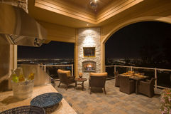 Furnished Patio with Fireplace