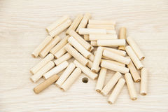 Furnishing accessories. On the chipboard Royalty Free Stock Photo
