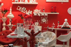Furnishing and accessories on display at HOMI, home international show in Milan, Italy Stock Photography