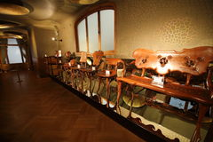 Furnishings in Casa Batllo, Barcelona, Spain Royalty Free Stock Images