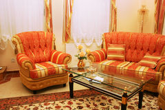 Furniture. Home luxurious red furniture picture Royalty Free Stock Image
