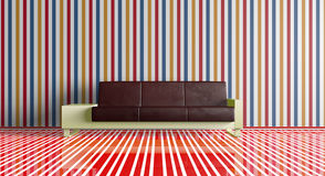 Furniture. 3d image of room with furniture Royalty Free Stock Image