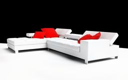 Furniture. Modern furniture on a white background 3d image Royalty Free Stock Images