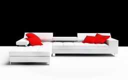Furniture. Modern furniture on a white background 3d image Stock Photo