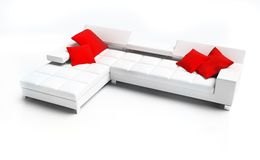 Furniture. Modern furniture on a white background 3d image Stock Photos