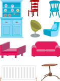 Furniture. A selection of furniture royalty free illustration