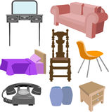 Furniture. A selection of furniture stock illustration
