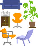 Furniture. A selection of furniture vector illustration