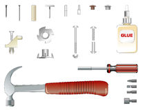 Furniture assembly kit. Illustration of furniture assembly kit Royalty Free Stock Images