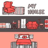 Furniture Banner Sketch Stock Photo