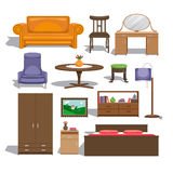 Furniture for bedroom Royalty Free Stock Image