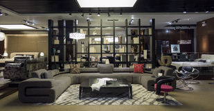 Furniture Boutique. A model living room in a furniture store Stock Image