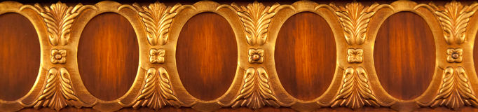 Furniture Brass Details. Furniture details and close up decoration of an an old cabinet Royalty Free Stock Photos