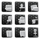 Furniture buttons Royalty Free Stock Images